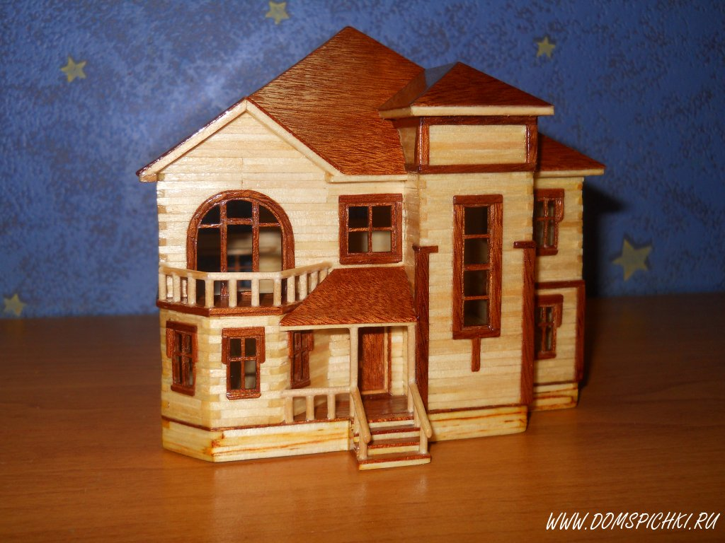 Поделки со спичак дом