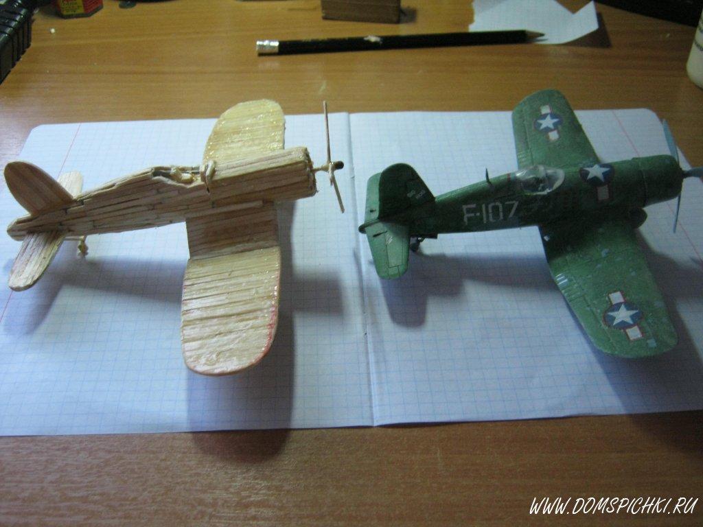 Поделка самолет спичечный коробок