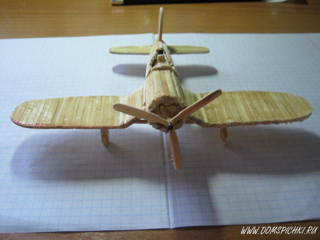 Поделка из спичек самолет 80