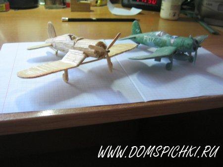 Спички и клей11.  Предлагаю вашему вниманию свою новую поделку. самолет сделал по чертежам модели...