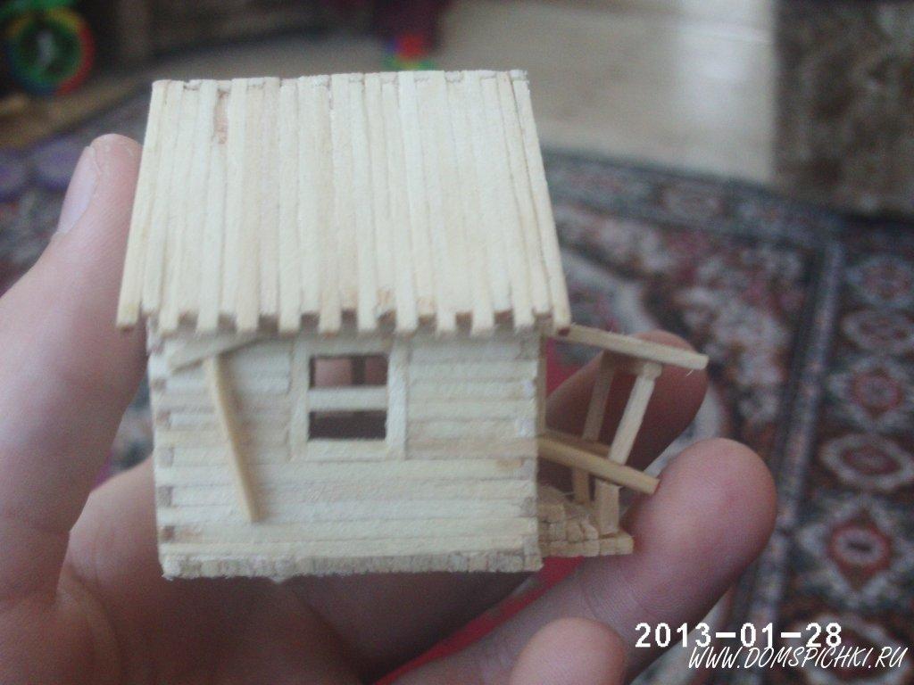 Поделка мой дом из спичек 614