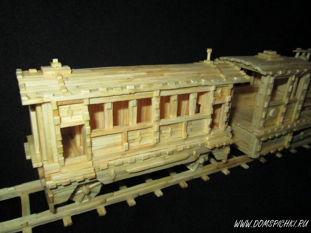 Поезд из спичек своими руками пошаговая инструкция 36