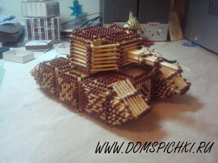Мастер класс танк из спичек