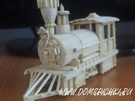 Поезд из спичек своими руками пошаговая инструкция 8