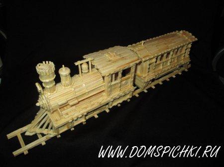 Поезд из спичек своими руками пошаговая инструкция 61