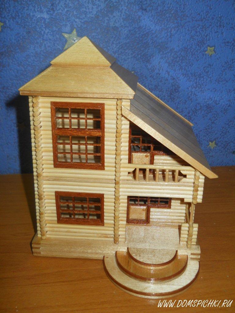 Как сделать домик из шпажек своими руками 89