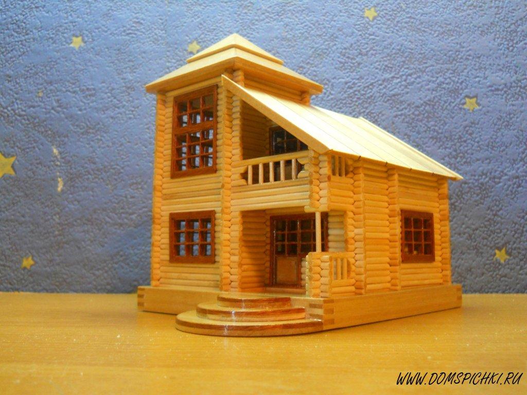 Как сделать домик из шпажек своими руками 42