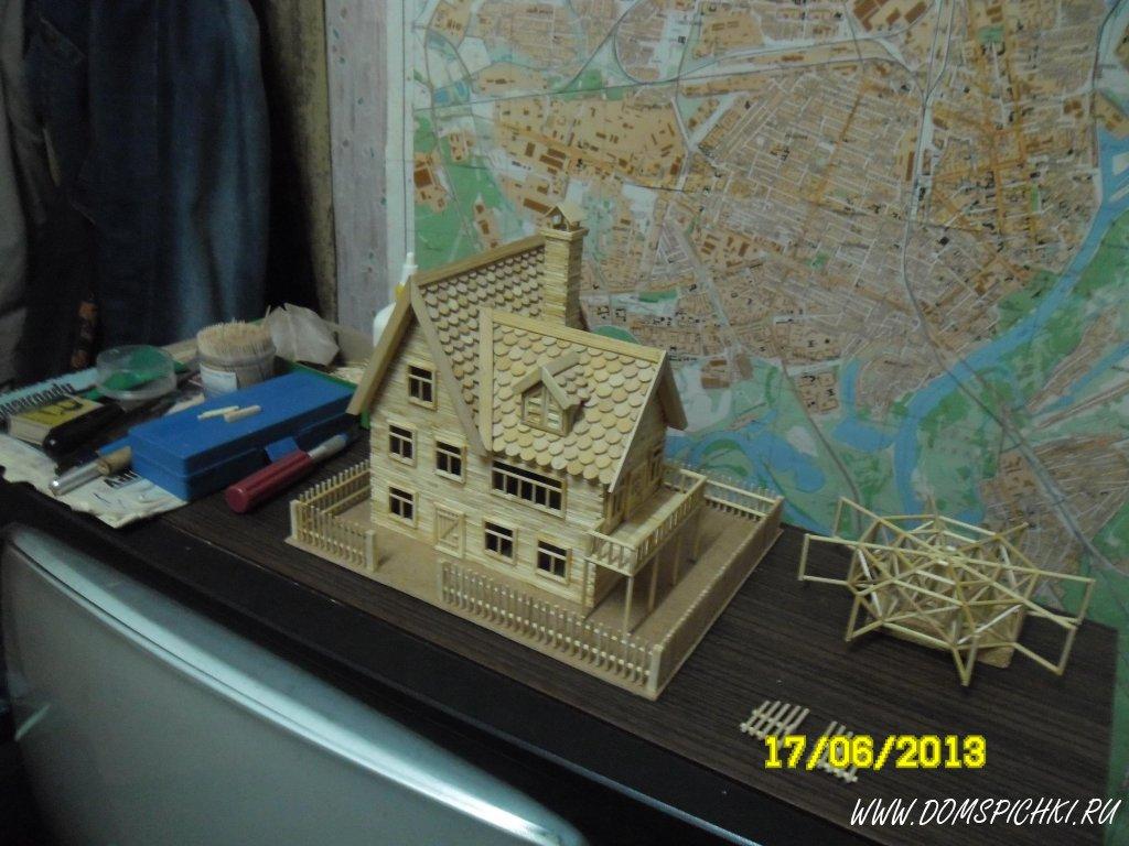 Замок из палочек от мороженого своими руками 93