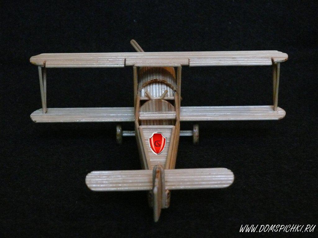 Поделка из спичек самолет 18