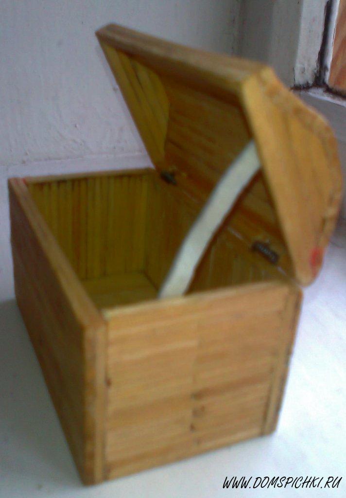 Как сделать что то из спичек шкатулку