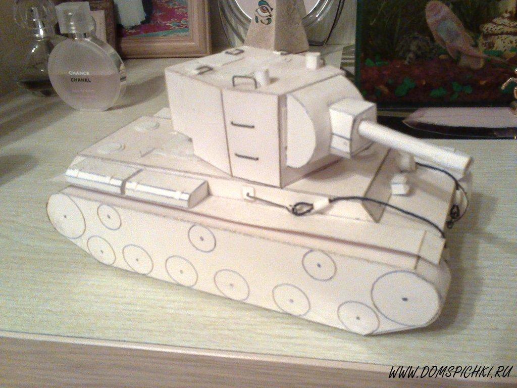 схема из бумаги танк