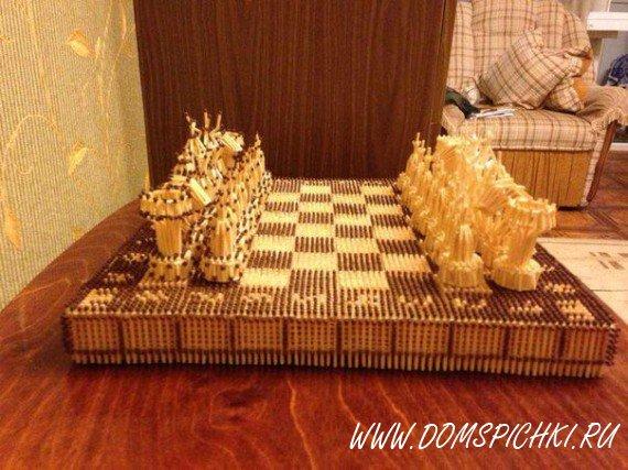 Шахматы из спичек.