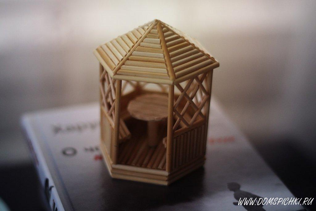 Модель дома из спичек своими руками 96