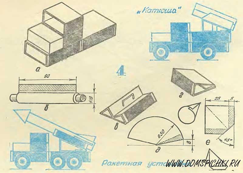 Как сделать машинку из картона своими руками схема