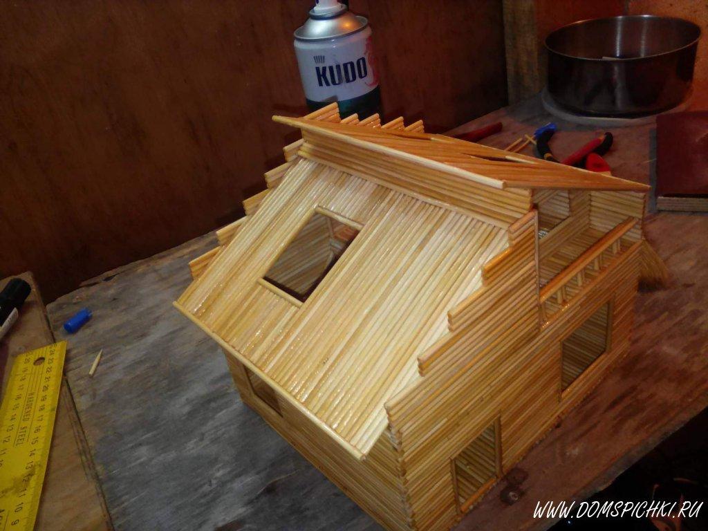 Как сделать домик из шпажек своими руками 17