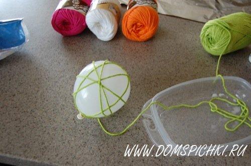 Поделки из ниток шарик своими руками