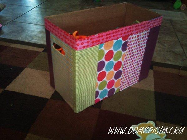 Коробка для игрушек своими руками из фанеры